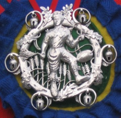 The Squire's badge photographed on Bob Cross (Squire 2004-2006)