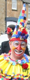 Barry Care fooling for Bampton Traditional Morris